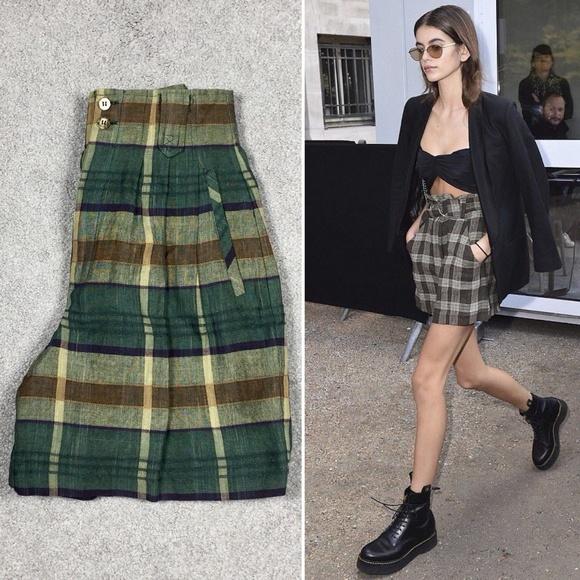 Small 90/'s Plaid High Waisted ShortsPlaid Shorts90s shortsHigh Waisted ShortsCotton Shorts90s plaid clothing